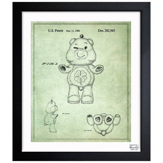 Carebears - Good Luck Bear 1986 Framed Painting Print