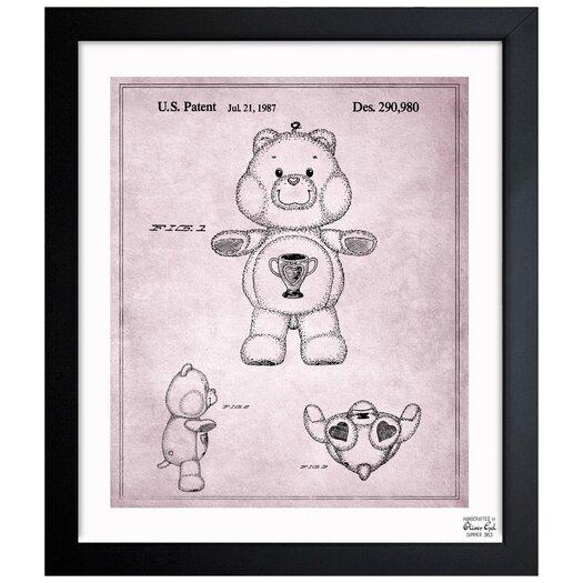 Carebears - Champ Bear 1987 Framed Painting Print