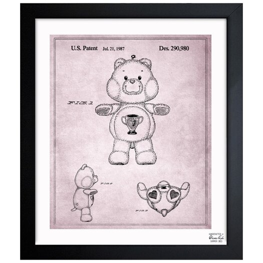 Carebears - Champ Bear 1987 Framed Painting Print