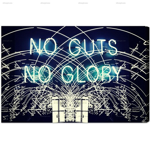 No Guts No Glory Graphic Art on Canvas
