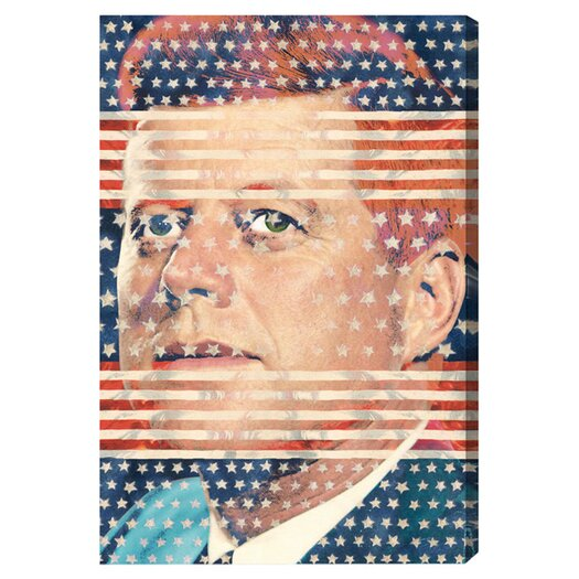 Oliver Gal ''John F. Kennedy'' Graphic Art on Canvas