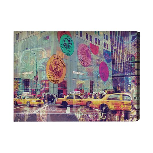 Oliver Gal NYC Fashion Taxi Graphic Art on Canvas