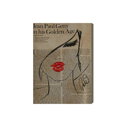Oliver Gal Fashionista Graphic Art on Canvas