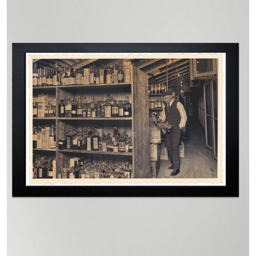 Oliver Gal ''All those Old Bottles'' Framed Photographic Print