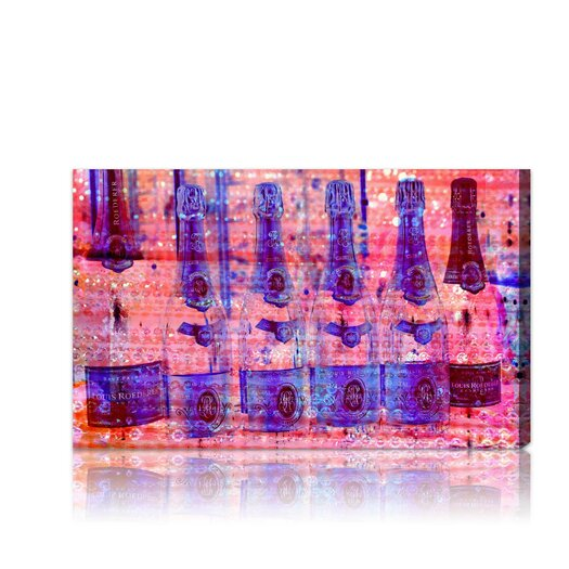 """Oliver Gal """"Cristal on Crystal Rose"""" Graphic Art on Canvas"""