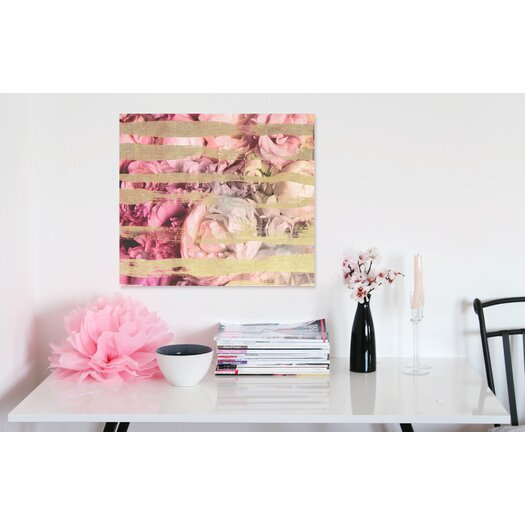 """Oliver Gal """"Fields Of Rose"""" Graphic Art on Canvas"""