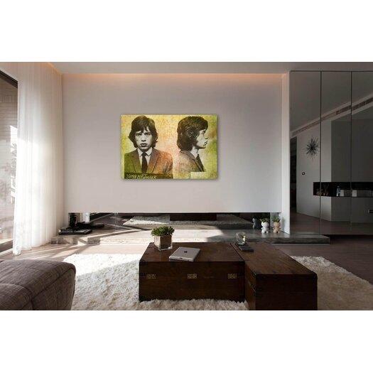 Oliver Gal ''Mick Jagger Mugshot'' Graphic Art on Canvas