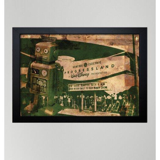 Oliver Gal ''Progressland'' Framed Vintage Advertisement