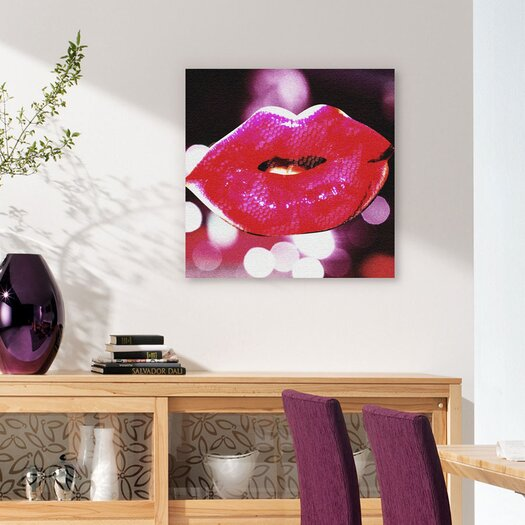"Oliver Gal ""She Had Blade Runner"" Lips Graphic Art on Canvas"