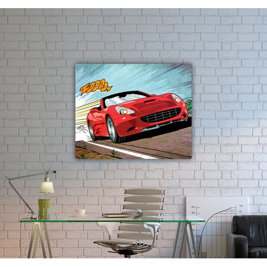 Oliver Gal ''Vroom'' Graphic Art on Canvas