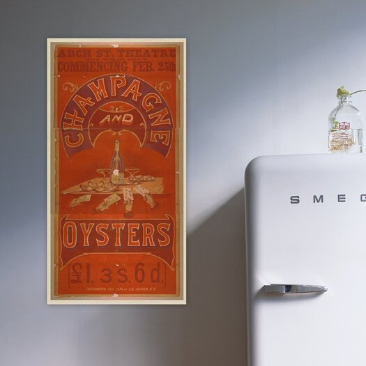 Oliver Gal ''Champagne and Oysters'' Vintage Advertisement on Canvas