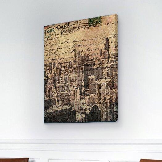 "Oliver Gal ""Chicago Skyline"" Graphic Art on Canvas"