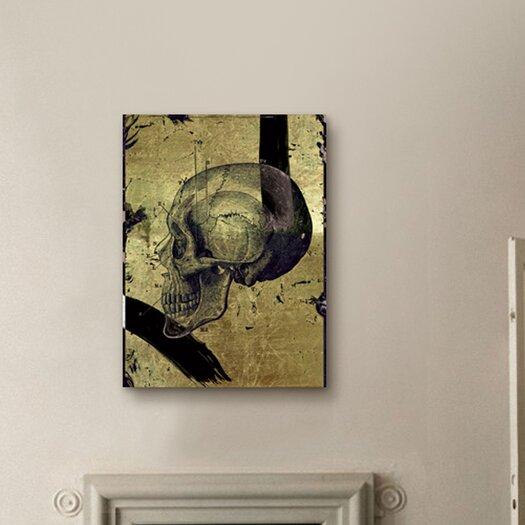 Oliver Gal ''Calavera de Oro II'' Graphic Art on Canvas