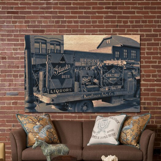 Oliver Gal ''Beer Truck'' Photographic Print on Canvas