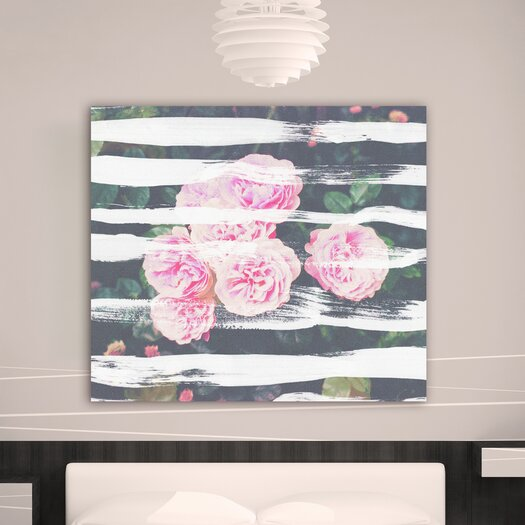 """Oliver Gal """"Blooming Strokes"""" Graphic Art on Canvas"""