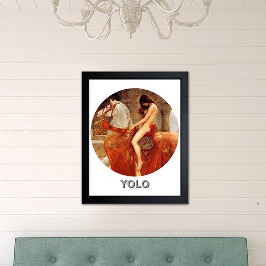Oliver Gal ''Yolo''Framed Graphic Art