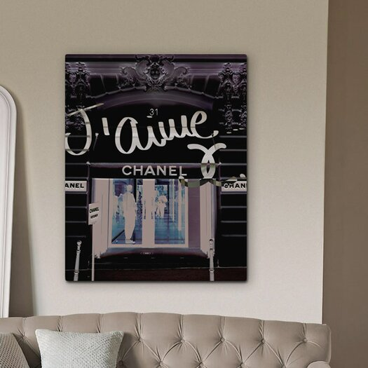 """Oliver Gal """"31 Rue Cambon"""" Graphic Art on Canvas"""