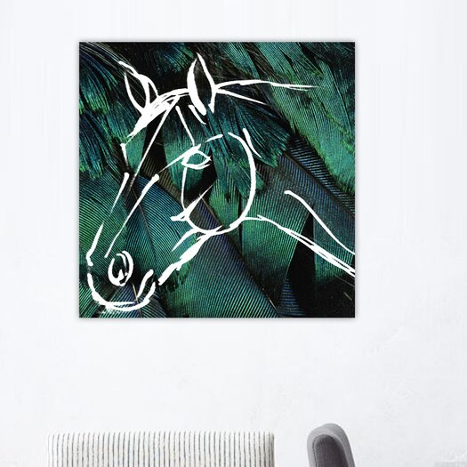 Oliver Gal Horse Graphic Art on Canvas