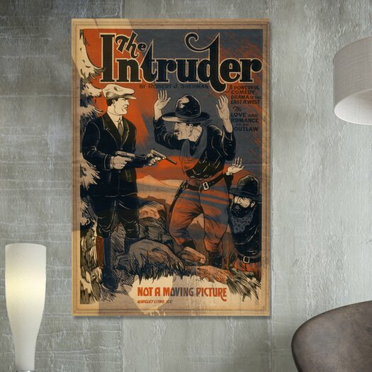 Oliver Gal ''The Intruder'' Vintage Advertisement on Canvas