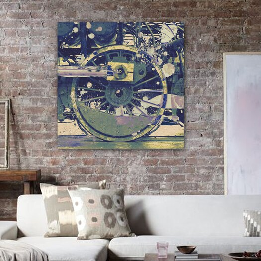 Oliver Gal ''Wheel'' Graphic Art on Canvas