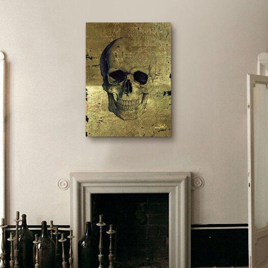 Oliver Gal ''Calavera de Oro'' Graphic Art on Canvas