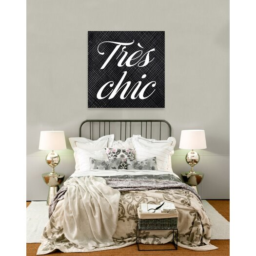 Oliver Gal Tres Chic Textual Art on Canvas