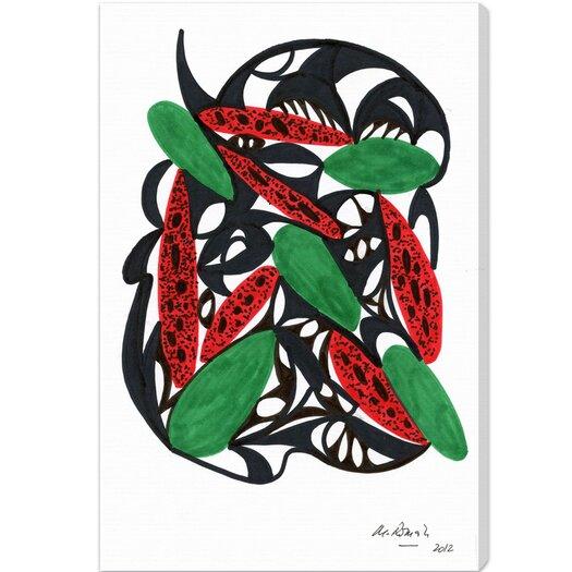 Watermelon Still Life Graphic Art on Canvas