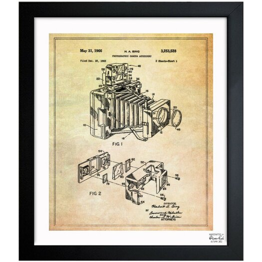 Oliver Gal Bing Polaroid Camera Accessory 1966 Framed Graphic Art