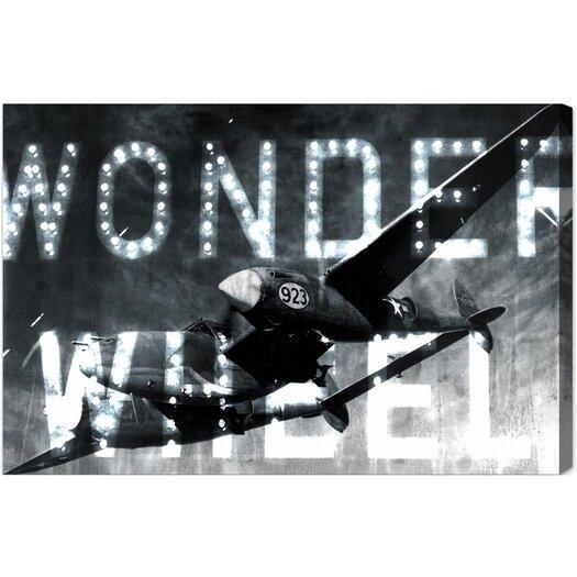Wonder Wheel Textual Art on Canvas