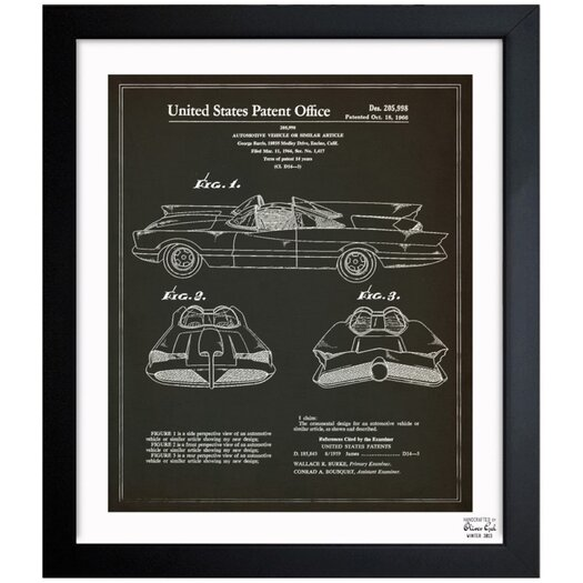 Oliver Gal Batmobile 1966 Framed Graphic Art