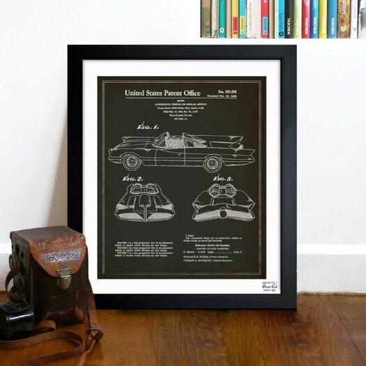 Oliver Gal Batmobile 1966 Framed Graphic Art