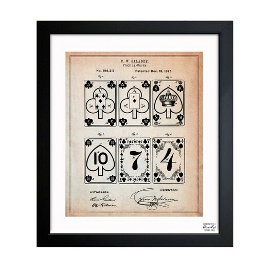 Improvement in Playing-Cards 1877 Framed Graphic Art