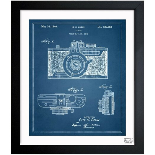 Cazin Design For A Camera 1940 Framed Graphic Art