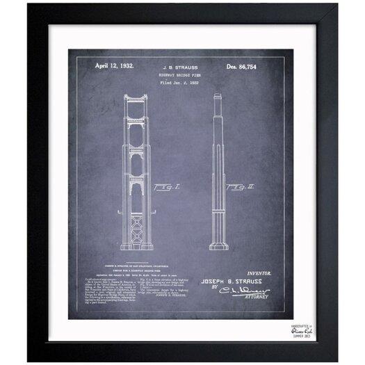 Golden Gate Bridge 1932 Framed Graphic Art