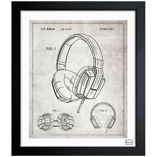 Oliver Gal Headphones 2010 Gray Framed Graphic Art