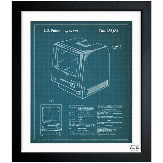 Oliver Gal Apple Macintosh 128K 1986 Framed Graphic Art