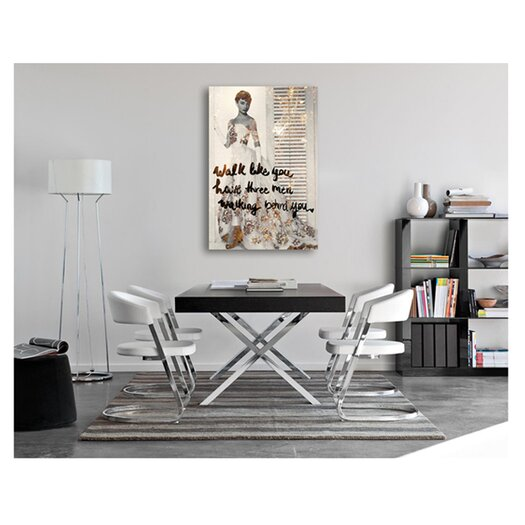 Oliver Gal Walk Like You Have Graphic Art on Canvas