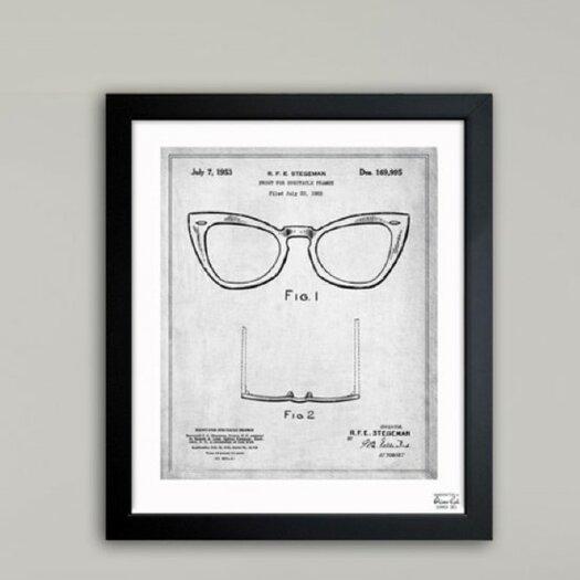 Oliver Gal Ray-Ban Wayfarer Spectacle Frame 1953 Framed Graphic Art