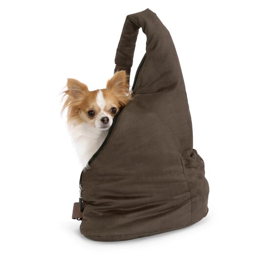 PetEgo Velvet Messenger Soft Pouch Pet Carrier