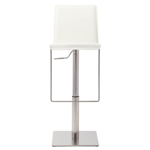 Kailee Adjustable Height Bar Stool with Cushion
