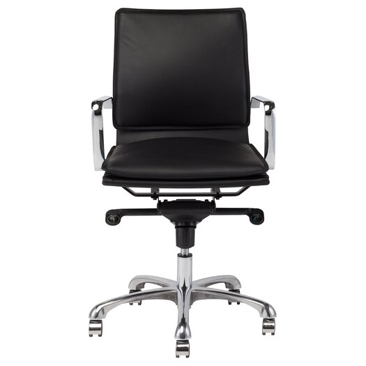 Carlo High-Back Leather Office Chair with Arms