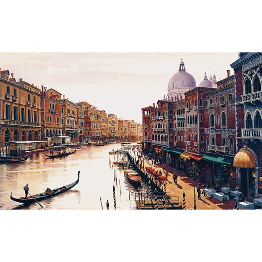 "Trademark Fine Art ""Canal of Venice"" by Hava Painting Print on Canvas"