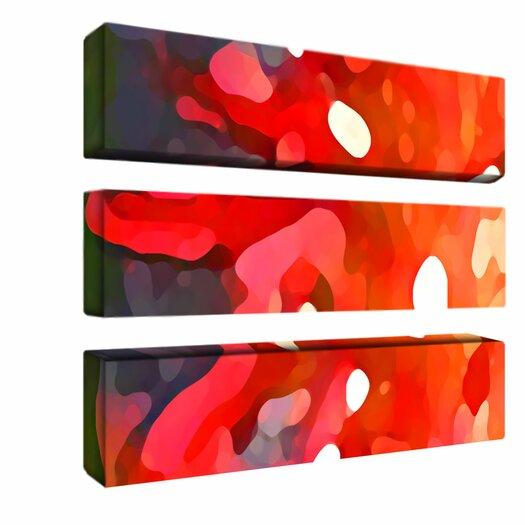 "Trademark Fine Art ""Red Sun"" by Amy Vangsgard Photographic Print 3 Panel Art Set"