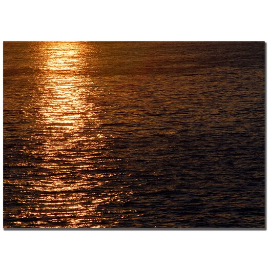 Trademark Fine Art 'Sunset Reflections' by Kurt Shaffer Photographic Print on Canvas
