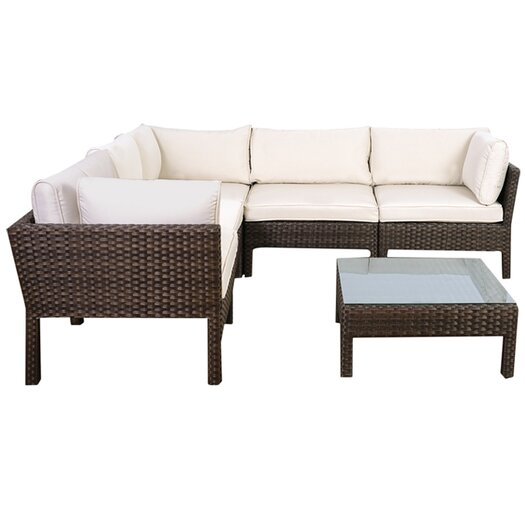 International Home Miami Atlantic St. Etienne 6 Piece Deep Seating Group with Cushions