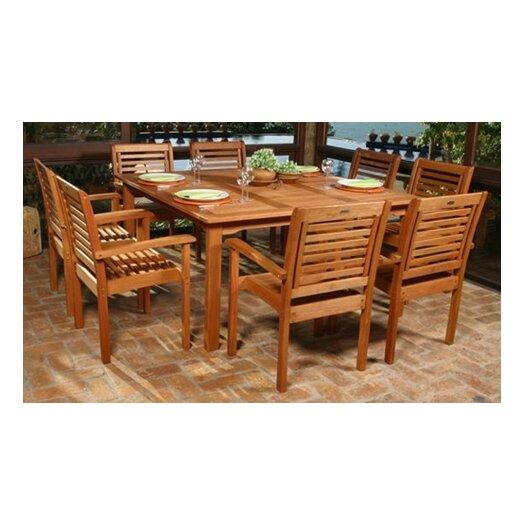 International Home Miami Amazonia 9 Piece Dining Set