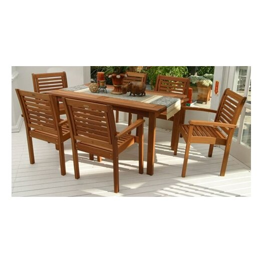 International Home Miami Amazonia 7 Piece Dining Set