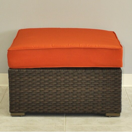 International Home Miami Miami Atlantic Sectional Ottoman with Cushion
