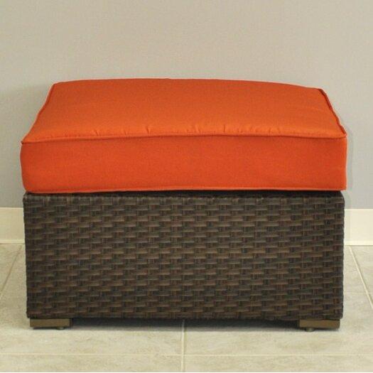 International Home Miami Miami Atlantic Sectional Ottoman with Cushions