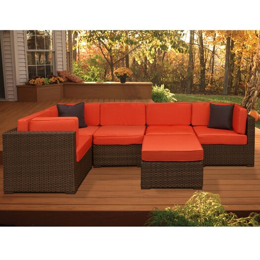 International Home Miami Aventura 6 Piece Deep Seating Group with Cushions